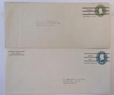 Etats-Unis / USA - 2 Entiers Postaux Préoblitérés Non-circulés - Vers Marquette Et Chicago - Entiers Postaux