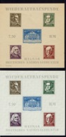 Allemagne - 1946 - Thuringe - Wiederaufbauspende - Bloc-feuillets N° 3 Et 3 A - Neufs X Et (X) - TB - - Soviet Zone