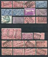 Belgien / Int. Stempellot A. Eisenbahnpaketmarken (24338-20) - Poststempel