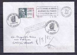 TP N° 2934  SUR LETTRE DE 31.VERFEIL/4.3.95/1° JOUR + OBL. MANUELLE ET MECANIQUE - 1961-....