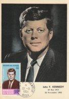Carte Maximum - Président John F. Kennedy - Niger