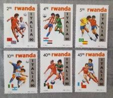 Rwanda 1990; Sport, Soccer, Football; World Cup Italy; MNH / Neuf** / Postfrisch; CV 50 Euro!! - Rwanda