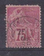 Colonies Francaises, Emissions Générales - Yvert N° 58 Oblitéré, Une Dent Courte - Frankreich (alte Kolonien Und Herrschaften)