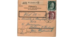 Allemagne  - Colis Postal  - Départ Wiesbaden -  Pour Kochern  ( Cocheren ) / 1-12-43 - Allemagne