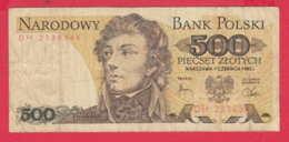 248161 / 1982 -  500 Zlotych - Tadeusz Kościuszko Military Engineering , Banknotes Banknoten Billets Banconote , Poland - Poland