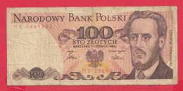 248165 / 1975 -  100  Zlotych - Ludwik Waryński -  Socialist Movement  , Banknotes Banknoten Billets Banconote , Poland - Poland