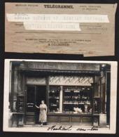 MONTREUIL: Lot Unique De 4 Cartes Photos écrites + 1 Télégramme Adressé à Adrien Duthion à Montreuil Sous Bois. TTB - Montreuil