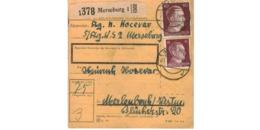Allemagne  - Colis Postal  - Départ Merseburg - Allemagne