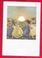 CARTOLINA VG ITALIA - A. ZANDRINO - Bambini Che Danzano - Alba Tramonto - Studium Christi - 10 X 15 - 1960 MORTEGLIANO - Zandrino