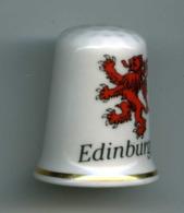 Dé à Coudre De Collection En Porcelaine - Edinburgh - Edimbourg - Ditali Da Cucito