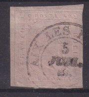 SARDAIGNE : N° 6 . OBL . 1853 . SIGNE . ( UNE MARGE COURTE ) . - Sardaigne