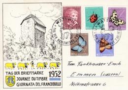 Tag Der Briefmarke Wattwil 1952 Mit Zu: J143-147 / Mi: 575-579 - Lettres & Documents