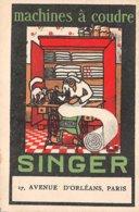 Publicité - N°60581 - Machines à Coudre Singer, 17 Avenue D'Orléans Paris - Werbepostkarten