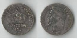 FRANCE 50 CENTIMES  1865 BB  ARGENT - France
