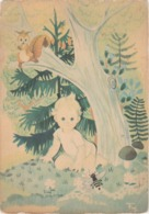 Illustrateur ? Bébé En Forêt Abeille écureuil Champignons Edit CECAMI 1279 Imprimé En Italie - Bébés
