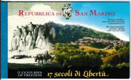 N 406) San Marino 2000 Mi# 1909-1928 Im Markenheftchen MH 4: 1700 Jahre Republik - Covers & Documents