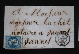 Lettre De Ploermel Avec N°14 Avec Voisin - 1849-1876: Periodo Classico
