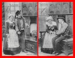 10 CPA Folklore. Auteur Du Lit Clos. Le Mariage D'un Couple Breton.Cartes Différentes...J767 - Personaggi