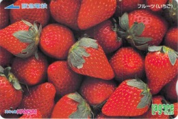 FRUIT ROUGE - FRAISE - Carte Prépayée Japon - Lebensmittel
