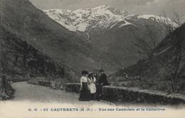 CARTE POSTALE ORIGINALE ANCIENNE : CAUTERETS VUE SUR LE CAUTERET ET LE CABALIROS  ANIMEE  HAUTES PYRENEES (65) - Cauterets