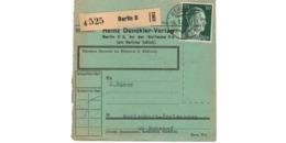 Allemagne  - Colis Postal  - Départ Berlin  -  19-1-43 - Allemagne