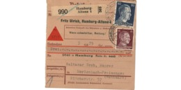 Allemagne  - Colis Postal  - Départ Hamburg Altona  -  11-6-43 - Allemagne