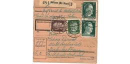 Allemagne  - Colis Postal  - Départ Uelzen ( Bz Han )  -  15-6-43 - Allemagne