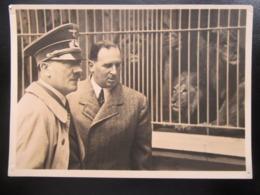 Postkarte Propaganda Hitler - Einriss / Löcher - Erhaltung II - Briefe U. Dokumente
