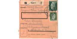 Allemagne  - Colis Postal  - Départ Speyer  -  16-6-43 - Allemagne