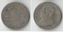 VATICAN 1 LIRE  1867   ARGENT - Vaticano (Ciudad Del)