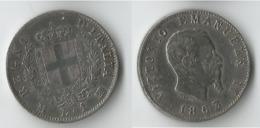 ITALIE 1 LIRE  1863   ARGENT - 1861-1946 : Royaume