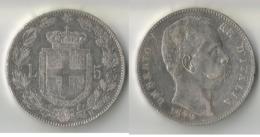 ITALIE  5 LIRE  1879   ARGENT - 1861-1946 : Royaume