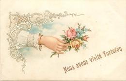 - Cher -ref-418- Torteron - Nous Avons Visité .. - Souvenir De .. - Main Et Fleurs - Carte Bon Etat - - Frankreich
