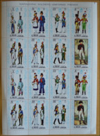 Ajman Uniformes Napoléon Bonaparte Feuillet De 2 Series MNH - Napoleon