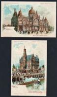Cartes Transparentes: Magnifique Lot De 2 Cartes En Couleur, Paris Expo 1900 Dites Transparentes................... - Fantasia