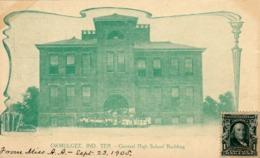 1622/ Okmulgee Ind. Ter. Central High School Building, Veel Mensen - Other