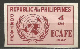 Philippines - 1947 ECAFE Imperf 4c MNH **     Sc 516a - Philippines