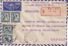 """INDOCHINE : ANNAM . DE """" DALAT """" . REC . PAR AVION . POUR SAIGON . 1948 . - Indochine (1889-1945)"""