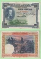 100 Pesetas 1925 Spagna España Spain - [ 1] …-1931 : Prime Banconote (Banco De España)