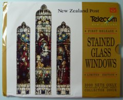 New Zealand - GPT - Stained Glass Windows - Phonecard & Stamp - Limited Edition 3000ex & Certificate - Mint In Folder - New Zealand
