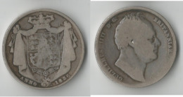 GRANDE BRETAGNE HALF CROWN  1836    ARGENT - K. 1/2 Crown