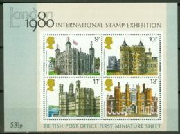 Großbritannien Block 1 ** Postfrisch Historische Bauten - Blocks & Kleinbögen