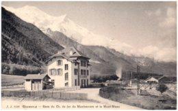 74 CHAMONIX - Gare Du Chemin De Fer Du Montenvers Et Le Mont-Blanc - Chamonix-Mont-Blanc