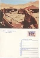 Afghanistan Postcard Stationery Entier Postal Postkarte Bamyan Kochies' Tents Tentes - Afghanistan