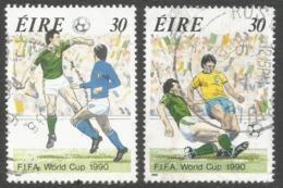Ireland. 1990 World Cup Football Championship. Used Complete Set. SG 770-771 - 1949-... Republic Of Ireland