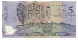 Australia 5 Dollars 1992 Dark Green Serial UNC .PL. - Emissioni Governative Decimali 1966-...