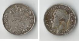 GRANDE BRETAGNE  3 PENCE  1918    ARGENT - F. 3 Pence