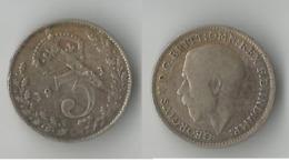 GRANDE BRETAGNE  3 PENCE  1921    ARGENT - F. 3 Pence