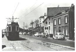 Noordwijk Huis Ter Duinstraat Blauwe Tram Tramway Strassenbahn Trolley Naar/to Leiden NZH 1960's - Noordwijk (aan Zee)