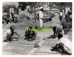ANCIENNE PHOTO 1960 SIERRA LEONE WEST AFRICA VINTAGE PRESS PHOTO 17 CM X 21 CM FOTO JENOI RICE STATION - Luoghi
